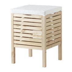 MOLGER Opbergkruk IKEA De stof is afneembaar voor de was.