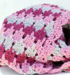 rain drop pink crochet baby blanket textured by ValkinThreads2, $36.50