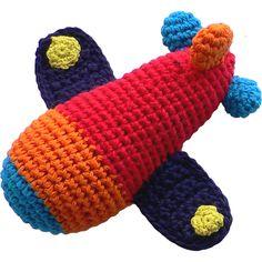 Limobebe - for modern babies :: juguetes & peluches :: sonajero ganchillo avión