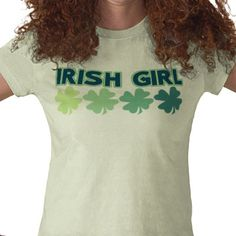 fighting irish girl cute st patricks day tshirt