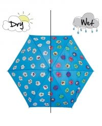 Holly and Beau Children's Colour Changing Pansy Umbrella Brollies, Kids Sunglasses, Kids Branding, Kids Bags, Wet And Dry, Coloring For Kids, Blue Fabric, Baby Wearing, Pansies