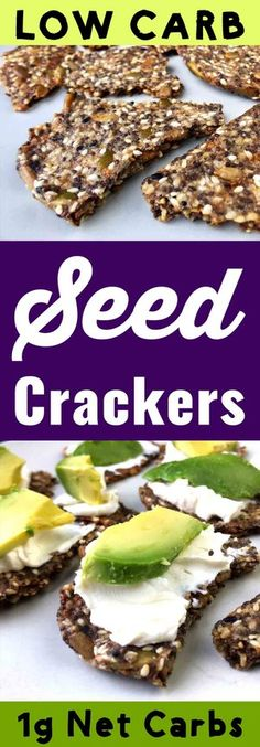 These Low Carb Everything Seed Crackers are full of seedy goodness. They are Keto, Paleo, Atkins, Banting, THM-S, LCHF, Grain Free and Gluten Free compliant. #resolutioneats #lowcarb #keto #paleo #cracker