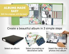 We R Memory Keepers, Albums Made Easy, Project Life, 4x6 Cards, 3x4 Cards, albums, hybrid scrapbooking