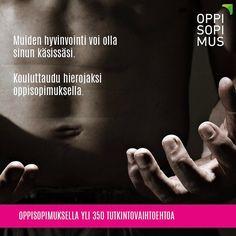 Kiinnostaako hyvinvointi? Ota yhteyttä lähimpään oppisopimustoimijaan. Yhteystiedot osoitteessa www.oppisopimus.fi #oppisopimus #sopivinonparas