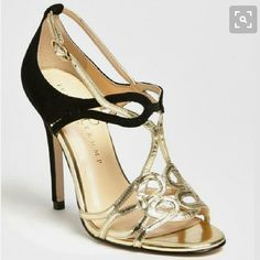 FREE Shipping 1hr ‼️Ivanka Trump Gold Herly Heels These were worn only few times and are in the great shape. The bottom of the hill is not worn out at all. There is also matching Ivanka Trump pearl leather cut out clutch in my closet. Check it out as well. These will make a percent pair. Ivanka Trump Shoes