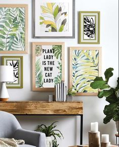Get back to nature with Custom Framing at JOANN. Create a gallery wall of framed tropical prints to recreate this trend in your own home.