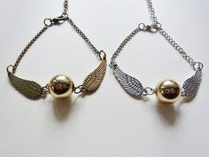 Hey, I found this really awesome Etsy listing at https://www.etsy.com/ru/listing/213633253/flying-golden-snitch-charm-bracelet