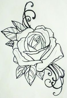 tattoo rose by ~resonanteye on deviantART