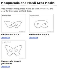 Masquerade masks free printable coloring pages for Make your own halloween mask online