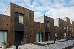 Erik Wallin lanserar Zenhusen i Norra Djurgårdsstaden Contemporary Architecture, Interior Architecture, Mews House, Social Housing, Affordable Housing, Cool Walls, Urban Design, Hostel, Townhouse