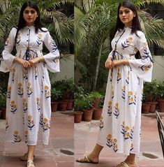 Silk Kurti Designs, Kurta Designs Women, Kurti Designs Party Wear, Stylish Dresses, Simple Dresses, Stunning Dresses, Casual Dresses, Indian Fashion Dresses, Frock Fashion
