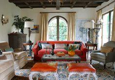 Mediterranean Living Room in Santa Monica, CA by Madeline Stuart & Associates