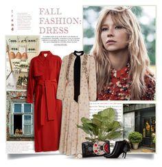 """Fall Dress"" by thewondersoffashion ❤ liked on Polyvore featuring Roksanda, Maison Mayle, Kate Spade, Dior, roksanda, haleybennett, falldresses and MaisonMayle"
