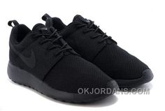 nike wmns roshe run woven blackout fabric