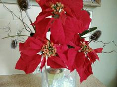 Christmas arrangement in red