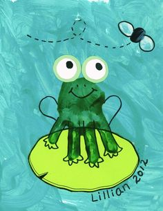 Frog Handprint Art | handprint frog