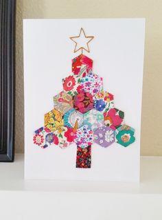 diy hexie christmas tree card christmas sewing projectsxmas