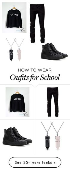 """1st day @ school"" by alyciakoby9 on Polyvore featuring Tiger of Sweden, Bling Jewelry, Converse, women's clothing, women's fashion, women, female, woman, misses and juniors"