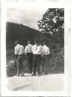 Old Photo Men on Mountain Enjoying the View 1920s Photograph Snapshot vintage rear view by girlcatdesign on Etsy https://www.etsy.com/listing/258513051/old-photo-men-on-mountain-enjoying-the