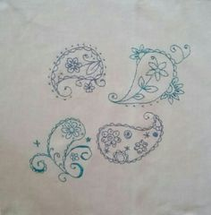 Hand-Embroidered Paisley
