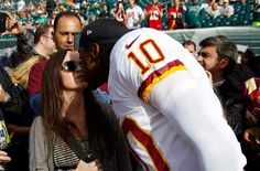 Very few knew anything about RG3's ex-wife, Rebecca Liddicoat until recently. In fact, most of his fans; including me, had no idea he was even married with a child. The drama surrounding Robert Griffin III's professional football career brought to the surface his marital issues and family drama.  http://www.ratchetqueens.com/rebecca-liddicoat-facts-rg3-ex-wife-baby-mama.html