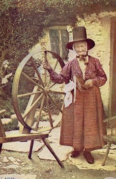 Welsh lady spinning