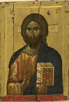 Monastery of Vatopedi, Agion Oros Byzantine Icons, Byzantine Art, Early Christian, Christian Art, Anima Christi, Christ Pantocrator, Images Of Christ, Paint Icon, Jesus Painting
