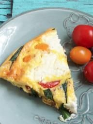 Ricotta, Tomato and Ramp Frittata | KitchenDaily.com