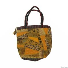 Buy this #trendy handbag from the house of #droomfashion. Made using brightly coloured cotton fabrics, You can come up with any number of places to carry it to. Secured section with zip, well stitched and durable. Can be matched with your everyday attire.