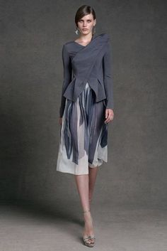 Donna Karan Resort 2013 love this!!!!!! so elegant grey and white