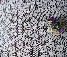 Filet Crochet, Knit Crochet, Crochet Tablecloth, Vintage Crochet, Black Rings, Knitting, Pattern, Lace Table Runners, Crochet Designs