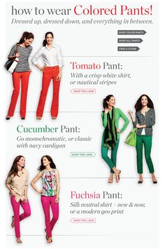 Colorful pants