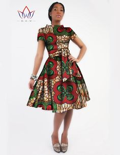 New Women Dress Sashes Jurken Brand Clothing African Print Dress Party Dresses Plus Size Women Clothing Office Dress African Dresses For Women, African Print Dresses, African Attire, African Wear, African Fashion Dresses, Party Dresses For Women, Summer Dresses, African Outfits, African Inspired Fashion