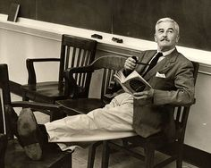 """The books I read are the ones I knew and loved when I was a young man and to which I return as you do to old friends."" —William Faulkner"