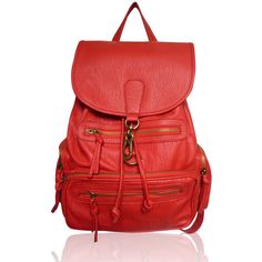 The Lincoln Rucksack by Anna Smith in Red