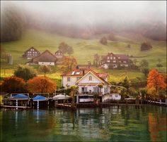 Pastoral Switzerland-autumn landscape