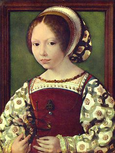 Jan Gossaert (Jan Mabuse) Porträt eines Mädchen (Jaqueline de Bourgogne? oder Dorothea von Dänemark?)