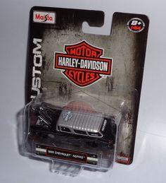 Maisto HARLEY-DAVIDSON CUSTOM 1:64 Scale - 1955 CHEVROLET NOMAD #Maisto #Chevrolet