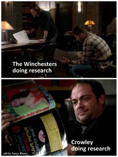 Supernatural research methods.... 9x16 Blade Runners
