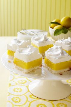 Go beyond traditional lemon bars and lemon pie with these inspired lemon recipes and lemon desserts, including a great lemon cake recipe. Lemon Dessert Recipes, No Cook Desserts, Lemon Recipes, Bar Recipes, Mini Desserts, Easter Recipes, Sweet Desserts, Delicious Recipes, Recipies