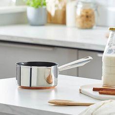 Infinity Copper Base 16cm Milk Pan   Dunelm Kitchen Dining, Dining Room, Infinity, Milk, Copper, Base, Stainless Steel, Design, Products