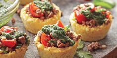 The Real Paleo Diet Cookbook | Cauliflower Cups with Herb Pesto and Lamb