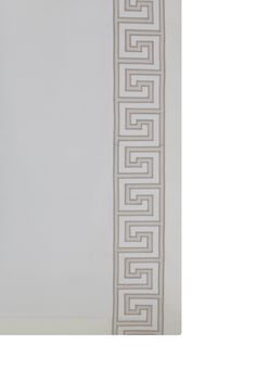 Our hand-guided applique embroidery - Greek Key