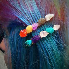 Gemstone Hair Clips