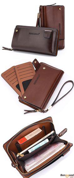 US$26.50 + Free shipping. Men's Bag, Business Bag, Clutch Bag, Men's Handbag, PU Bag, Waterproof Bag, Phone Bag, Card Holder, Wallet. Color: Dark Brown, Light Brown. Multipocket Design. With this Handbag, Everything Stays in Place.