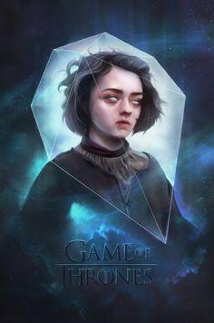 Game of thrones - Arya Stark by Rajoviarbu, via deviantart
