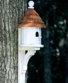 Flush Mount Architectural Birdhouse in Vinyl/PVC Architectural Vinyl Birdhouse with Flush-Mount Decorative Bracket Bird House Plans, Bird House Kits, Walpole Outdoors, Bird House Feeder, Bird Feeders, Decorative Brackets, Birdhouse Designs, Unique Birdhouses, Birdhouse Ideas