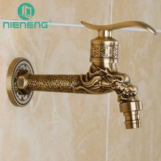 Nieneng Retro Laundry Bibcock Faucet Washing Machine Outdoor Tap Garden Faucet Accessories Bathroom Mixers Fixtures ICD60508