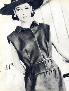 1964 | Model Benedetta Barzini is wearing a creation by Irene Galitzine.  Italian Vogue, May.