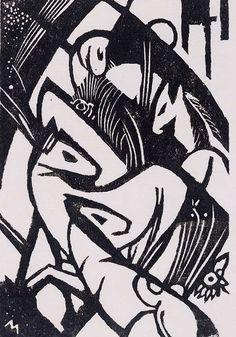 Franz Marc, woodcut